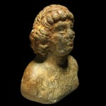 Copper bust, possibly of Antonius.
