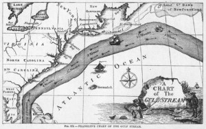 Franklin's map of the Gulf Stream.